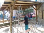 Brigáda stavění přístřešku v Zašové 20. října 2012
