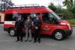 Slavnostní předání nového zásahového vozu od představitelů obce 31. května 2013