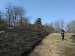 Požár trávy - Veselá 1. dubna 2017